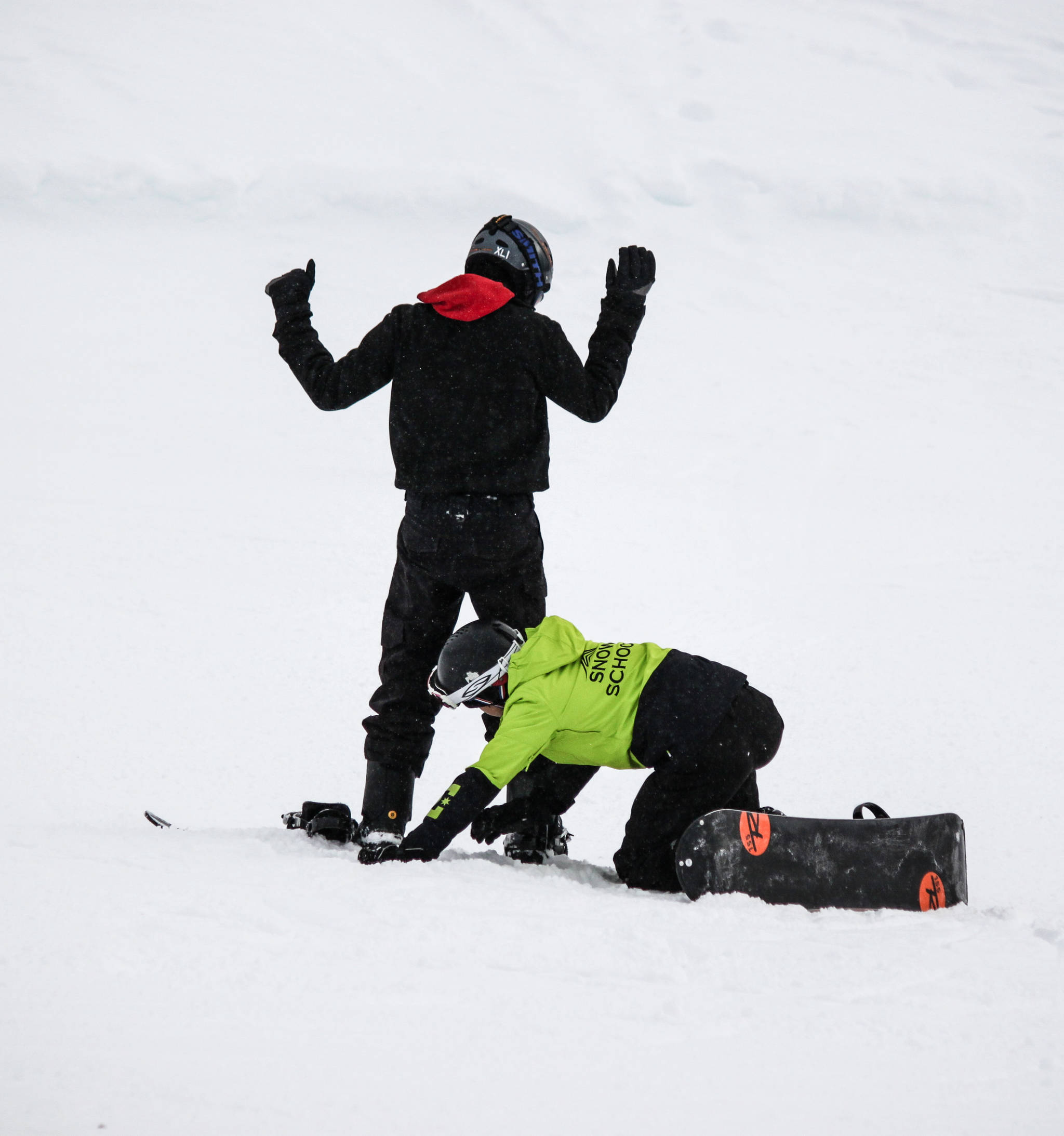 World comes to Hudson Bay Mountain to help get footing in bindings